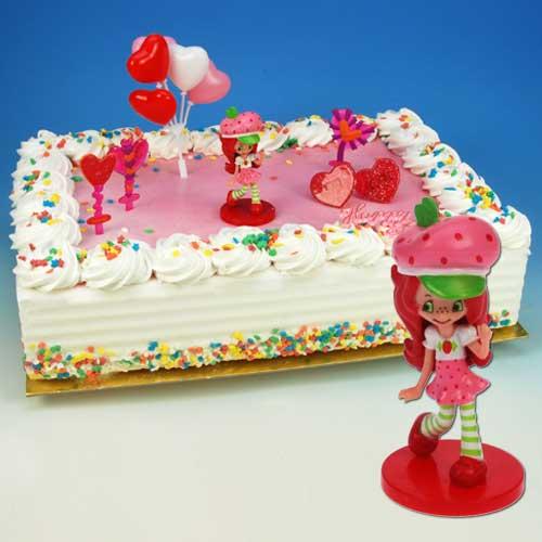 Strawberry Shortcake - Taart Decoratie Set