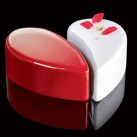 CakeIdea Inox Gebaksringen - Heart - Ø 14cm
