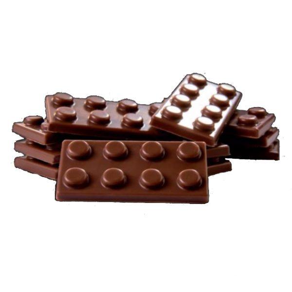 Polycarbonaat Bonbon Chocoladevorm Lego Blokje Plat