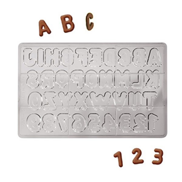 Polycarbonaat Bonbon Chocoladevorm Letters en Cijfers