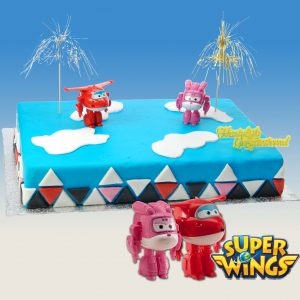 Super Wings - Taart Decoratie Set