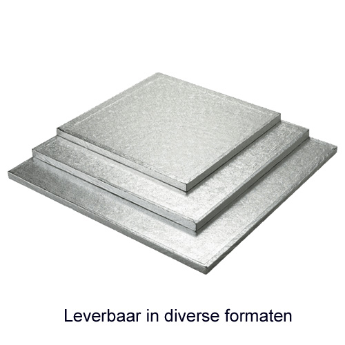 SWD Cake Board (Drum) - Vierkant - Dikte 13mm