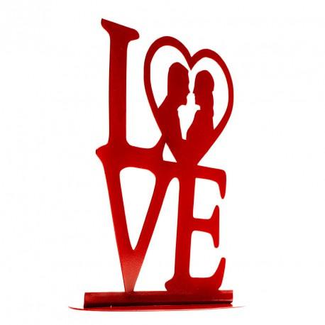Metaal LOVE Rood