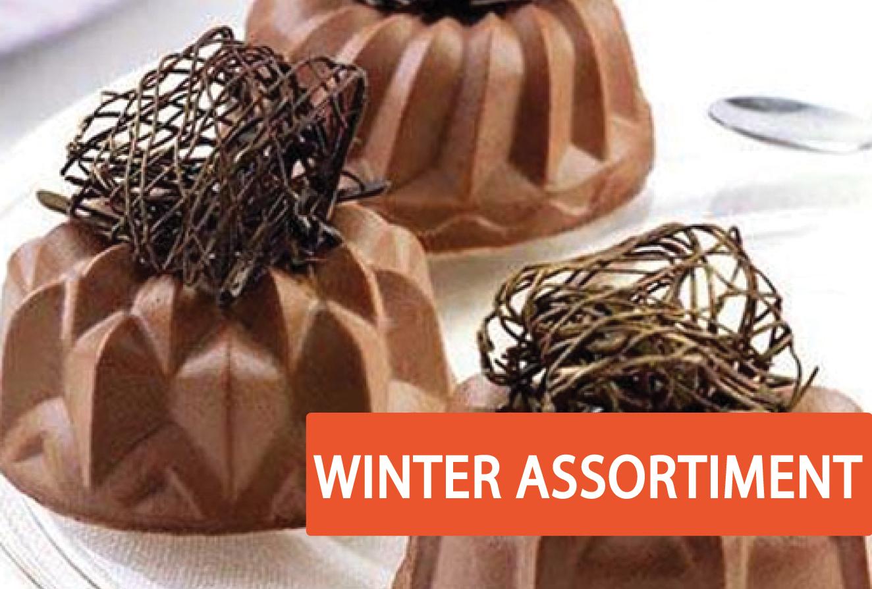 winter assortiment taart decoratie