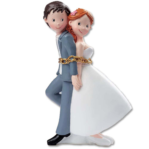 Bruidspaar geketend - groot