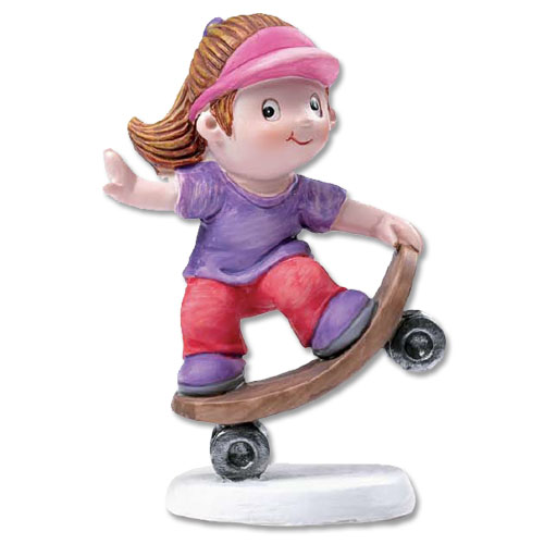 Skate Board Meisje Figuurtje - Hip