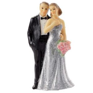 Zilveren bruidspaar