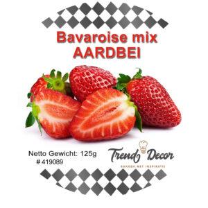 Mix voor bavaroise - Aardbei