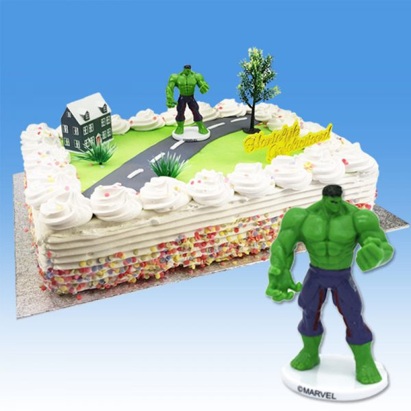 Hulk - Taart Decoratie Set