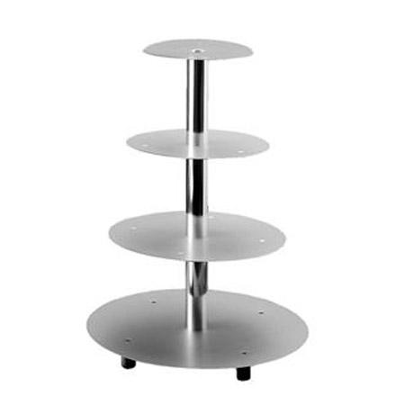 Taart Standaard Aluminium - 4 Etages
