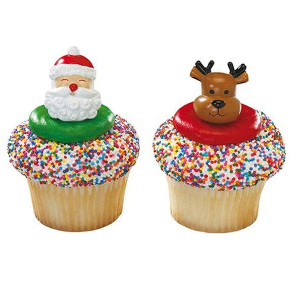 DecoRings: Kerstman & Rendier