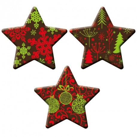 Chocolade Kerst Sterren - 120 stuks