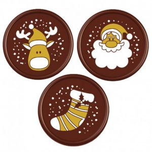 Met deze Chocolade Plaatjes Kerst - 45 stuks maak je van ieder taart, gebakje of cupcake in een handomdraai een echte kersttraktatie.