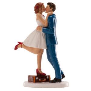 Bruidspaar Romantisch - op koffer