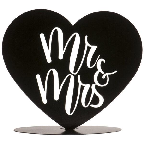 Metaal Mr & Mrs Hart - Zwart