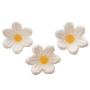 Suikerbloemetjes wit - 2 cm