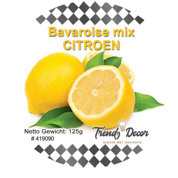 Mix voor bavarois - Citroen 125 g