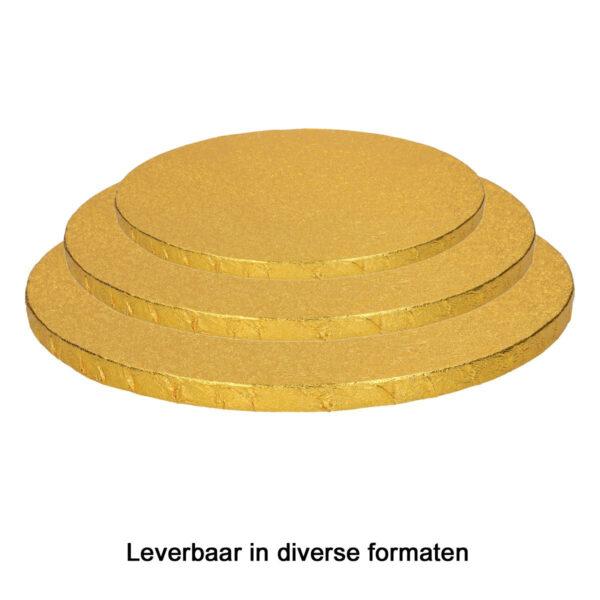 RWD Cake Board (Drum) - Goud - Rond - Dikte 13mm