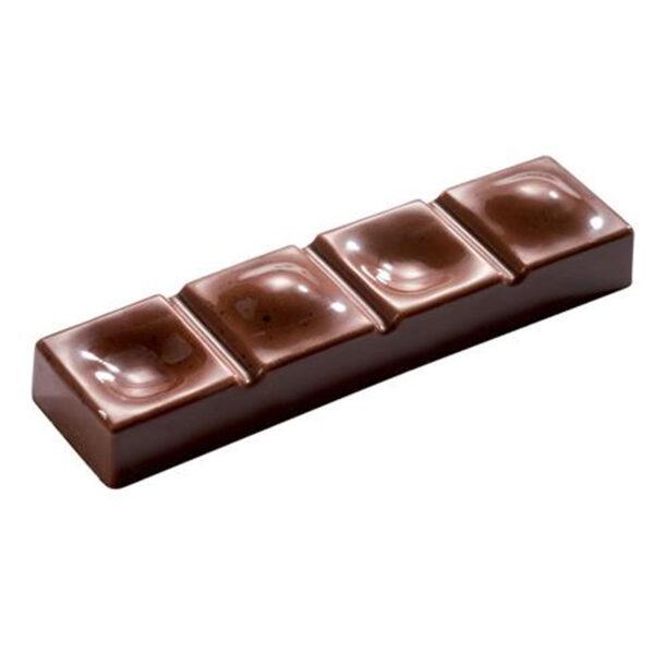 Polycarbonaat Bonbon Chocoladevorm: Reep - Holletjes