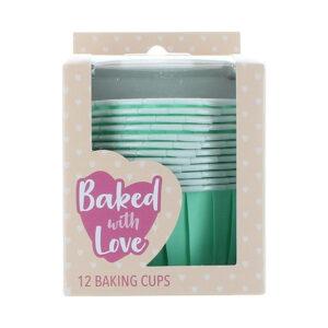 CupCake Baking Cups - Mint Groen