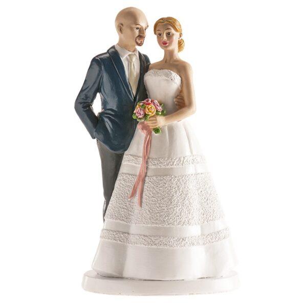 Bruidspaar - met kalende bruidegom